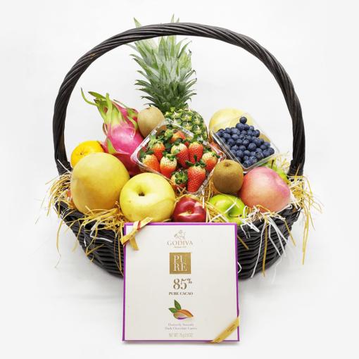 公司送禮品果籃:中型19吋禮品果籃