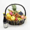 公司送禮品果籃:中型19吋名貴紅酒禮品果籃